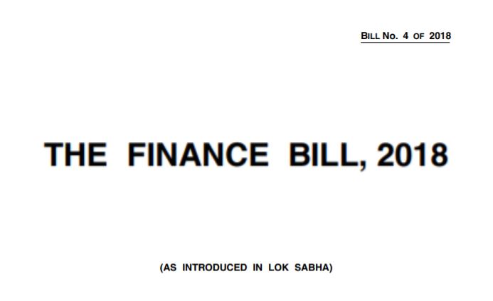 Finance Bill 2018