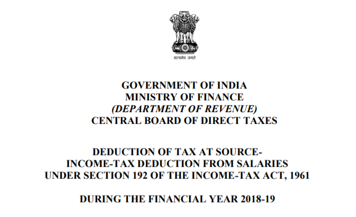 DEDUCTION OF TAX AT SOURCE